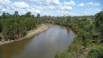 Mary River (Queensland) - View from Dickabram Bridge, 2010