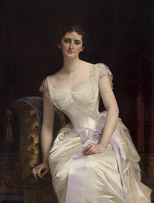 George Curzon, 1st Marquess Curzon of Kedleston - Mary Victoria Leiter by Alexandre Cabanel, 1887