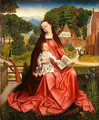 Aert van den Bossche - Virgin and Child in a Landscape