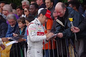 Mathias Beche - Beche at the 2016 24 Hours of Le Mans drivers parade