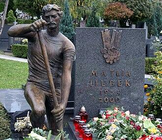 Matija Ljubek - Ljubek's grave at Mirogoj Cemetery.