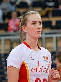 Maud Catry - FIVB World Championship European Qualification Women Łódź January 2014.jpg