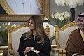Melania Trump at a ceremonial welcoming tea, May 2017.jpg
