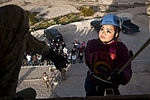 Melody Oberg, Junior Reserve Officer Training Corps cadet, listens to verbal instructions.jpg
