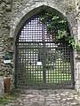 Memorial gates, Usk Castle - geograph.org.uk - 1426098.jpg