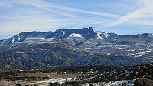 Mendicant Ridge - The ridge as seen from Colorado State Highway 92 near Maher.