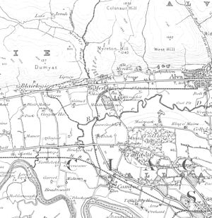 Menstrie - Menstrie and surrounding area in 1895