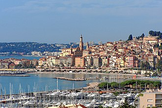 French Riviera - The Old Town district of Menton, which is the last town on the Côte d'Azur before the Italian frontier.
