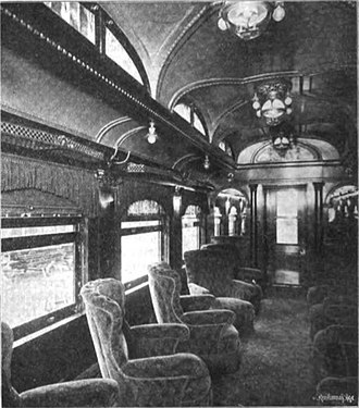Merchants Limited - Interior of a parlor car on the Merchants Limited in 1904