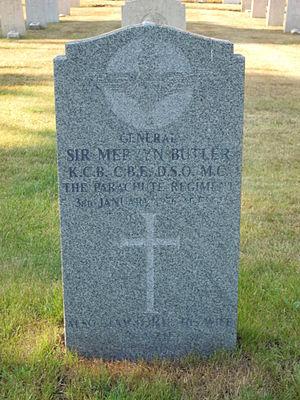 Mervyn Butler - Butler's grave in Aldershot Military Cemetery