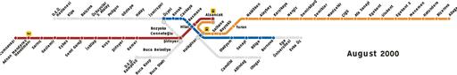 Metro Izmir map (2000)