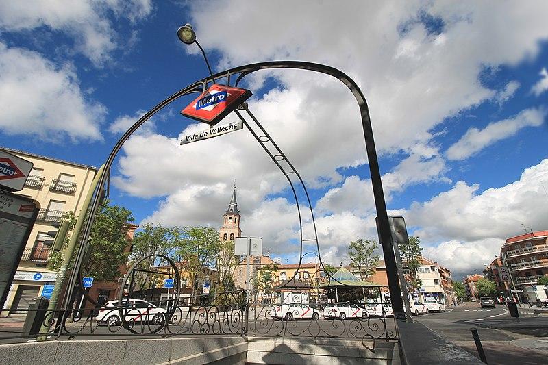 ملف Metro De Madrid Villa De Vallecas 01 Jpg ويكيبيديا الموسوعة