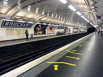 Brochant (Paris Métro) - Image: Metro de Paris Ligne 13 Brochant 15