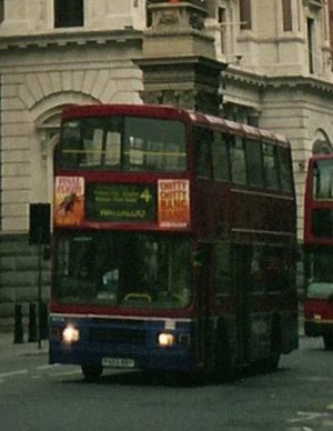 London Buses route 4 - Metroline Alexander bodied Volvo Olympian on The Strand in 2005