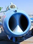 MiG-17F 'Fresco C' intake detail, Intrepid Sea, Air and Space Museum, New York. (45881371334).jpg