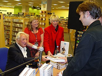 Michael Winner - Winner, with Geraldine Lynton-Edwards, at a book signing for his autobiography