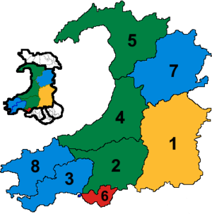 Mid and West Wales (National Assembly for Wales electoral region) - Image: Mid and West Wales results 2016
