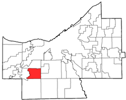 Location of Middleburg Heights in Cuyahoga County