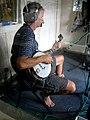 Mike Mumford on Us Folk in WMPG studio Portland ME July 2006.jpg