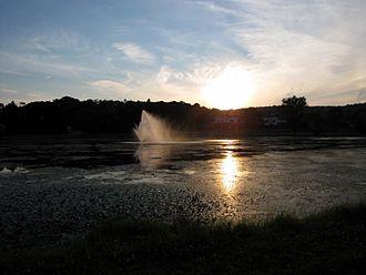 Monroe (village), New York - Millpond at Sunset
