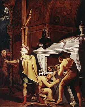 Miravan Breaking Open the Tomb of his Ancestors - Image: Miravan By Joseph Wright