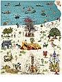 Miroslav Huptych, kalendář Ráj (Paradise) 10. list (2017), počítačová grafika 650 x 490 mm.jpg