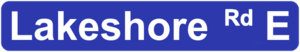 Lakeshore Road - Image: Missy Lakeshore Sign