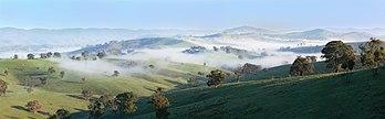 Paysage du Gippsland dans l'État de Victoria (Australie). (définition réelle 3214×1000)