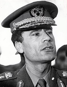 Muammar Gaddafi Libyan revolutionary, politician and political theorist