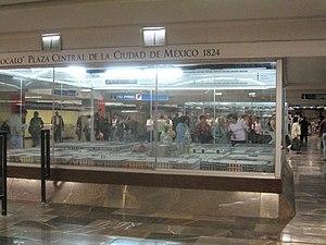 Metro Zócalo - Image: Model Mexico City 1824