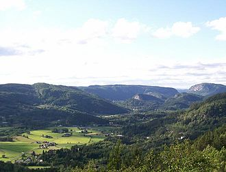 Kvinesdal - View of the Kvinesdal valley