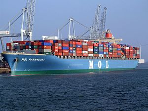 Mol paramount p5 approaching Port of Rotterdam, Holland 16-Jan-2005.jpg