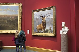 The Monarch of the Glen (painting) - The Monarch of the Glen in the Scottish National Gallery