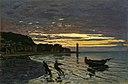 Monet - Towing a Boat, Honfleur, 1864.jpg