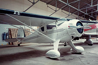 Monocoupe 90 - Monocoupe 90A of 1937 at Biggin Hill Airport, England in September 1982