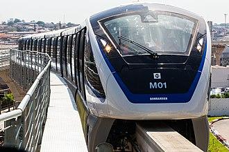Monorail - Line 15 (São Paulo Metro) train in a test phase at the Oratório station in São Paulo, Brazil