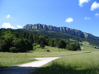 Mont Outheran mountain in France