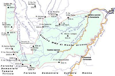 Cartina Di Uta Sardegna.Riserva Di Monte Arcosu Wikipedia