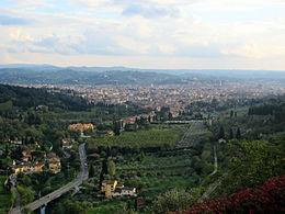 Veduta del centro storico di Firenze da Monterinaldi