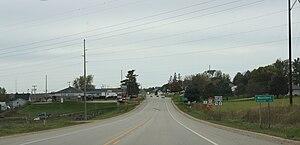 Montfort, Wisconsin - Looking west at Montfort