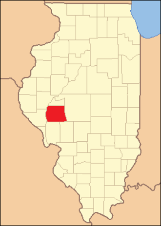 Morgan County, Illinois - Image: Morgan County Illinois 1837