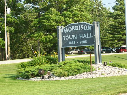 Sign for the old town hall
