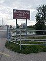 Mosoni-Danube river sign at Jedlik Bridge, 2018 Győr.jpg