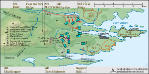 English: The Falklands War, 13 to 14 June