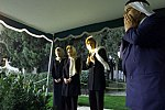 Mrs. Clinton, Chelsea and Queen Noor visit the gravesite of King Hussein, where they laid a wreath in memory of the King.jpg