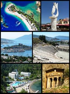 Muğla City in Aegean, Turkey