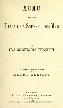 Mumu and the Diary of a Superfluous Man.djvu