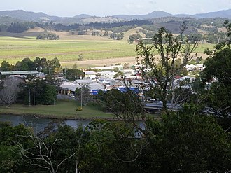 Murwillumbah - Partial view of town and Tweed River, 2008