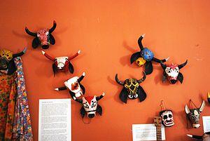 Cuajinicuilapa - Masks on display at the Museo de las Culturas Afromestizas