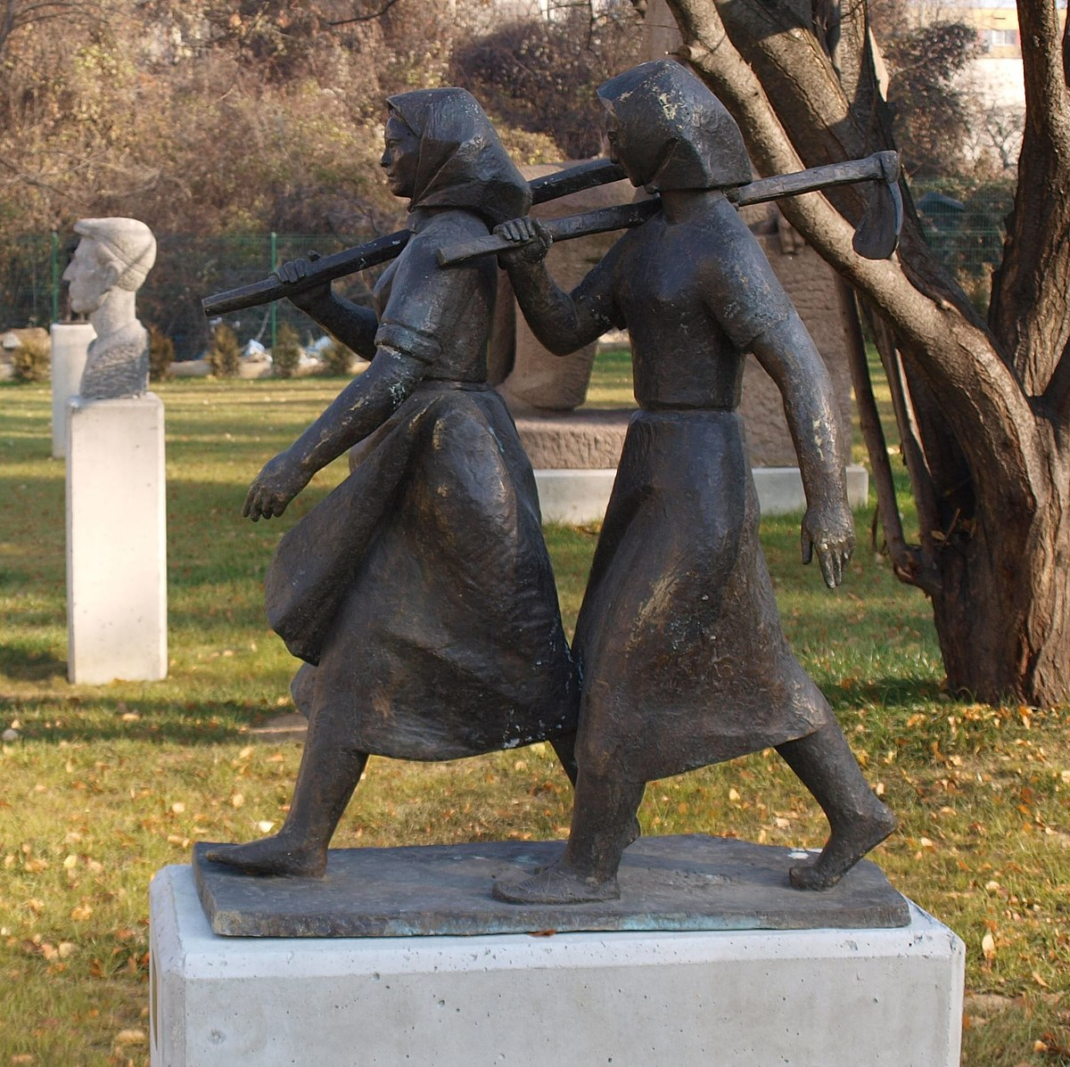 Socialist Realism Wikipedia - This beautiful bronze sculpture has been attached to a tree since 1968